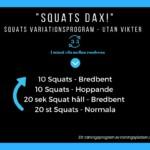 squats träningsprogram