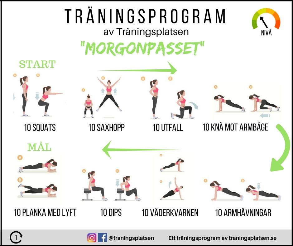övningar för att gå ner i vikt