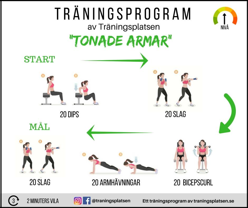 träningsprogram tonade armar