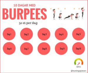 burpees utmaning