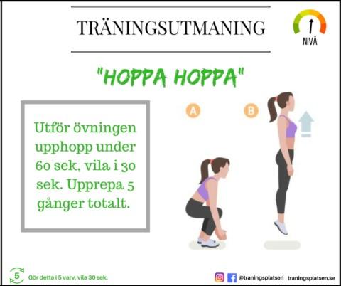 Träningsutmaning – hoppa hoppa