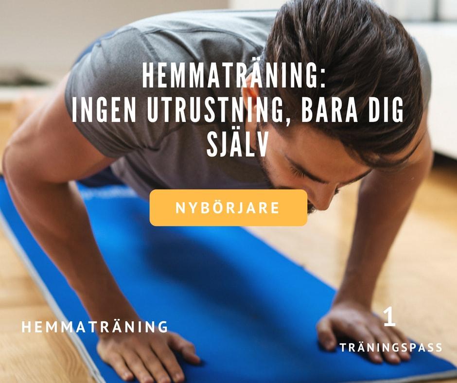 Träningspass hemma, hemmaträning, träna hemma, hemmaträningsprogram, träningsschema hemma, hemmarutin