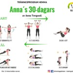 Träningsprogram för hela kroppen, träningsrutin, muskler