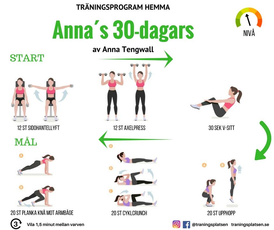 2 dagars träningsprogram gym