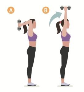 Triceps övningar med hantlar
