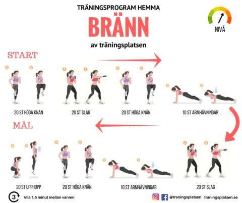 Träningsprogram hemma kondition
