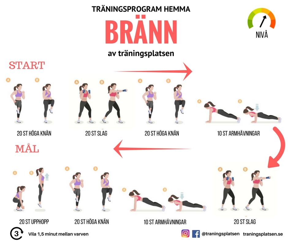 träning övningar hemma