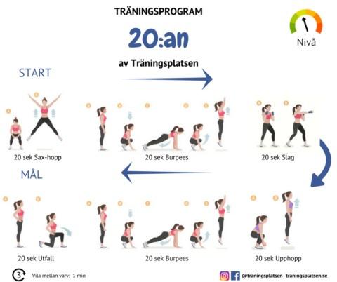 Träningsprogram utan vikter