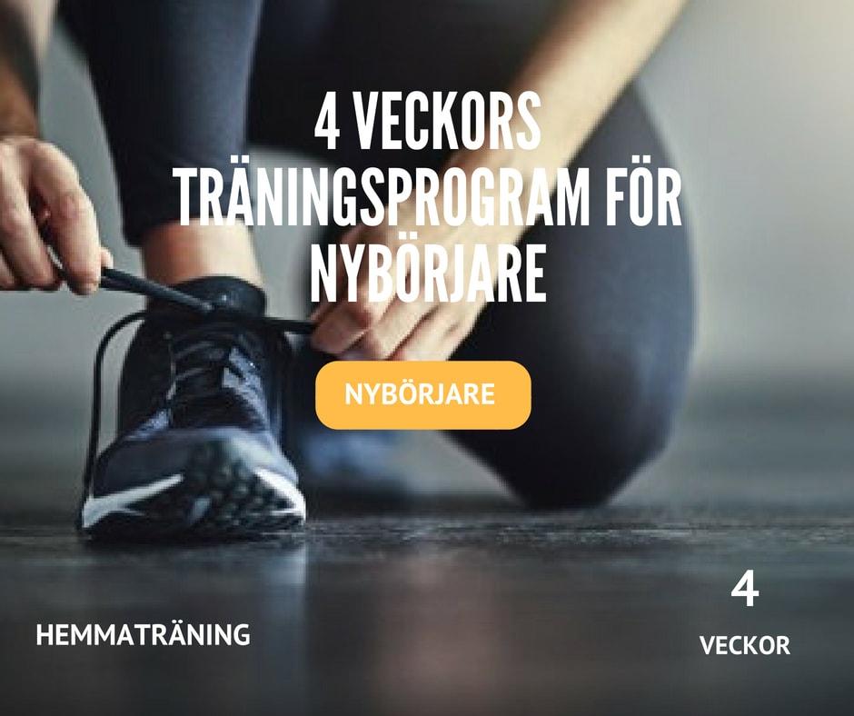 4 veckors träningsprogram för nybörjare, nybörjarrutin, träna nybörjare, komma igång träning