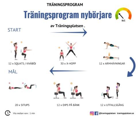 Träningsprogram nybörjare