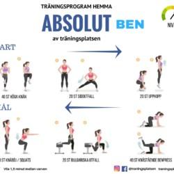 träningsprogram hemma ben