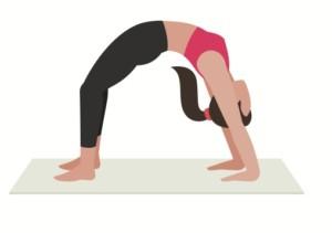 Stå i brygga, yoga, yogaposition, yoga stå i brygga, bryggan