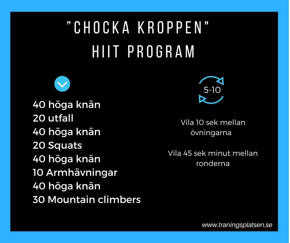 träningsprogram hiit