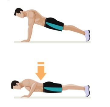 träningsövning armhävningar, push-ups, diamant pushups