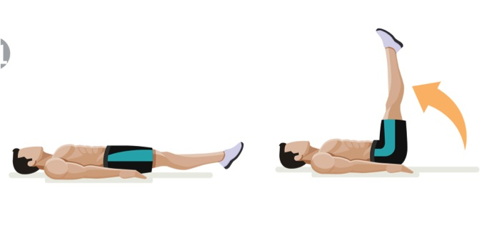benlyft på rygg, magmuskler, ryggövning