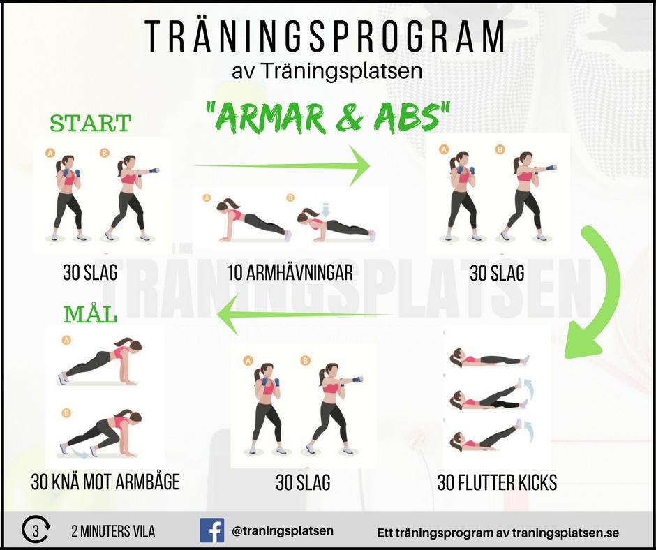 träningsprogram armar och abs, biceps, triceps, magrutor, magmuskler