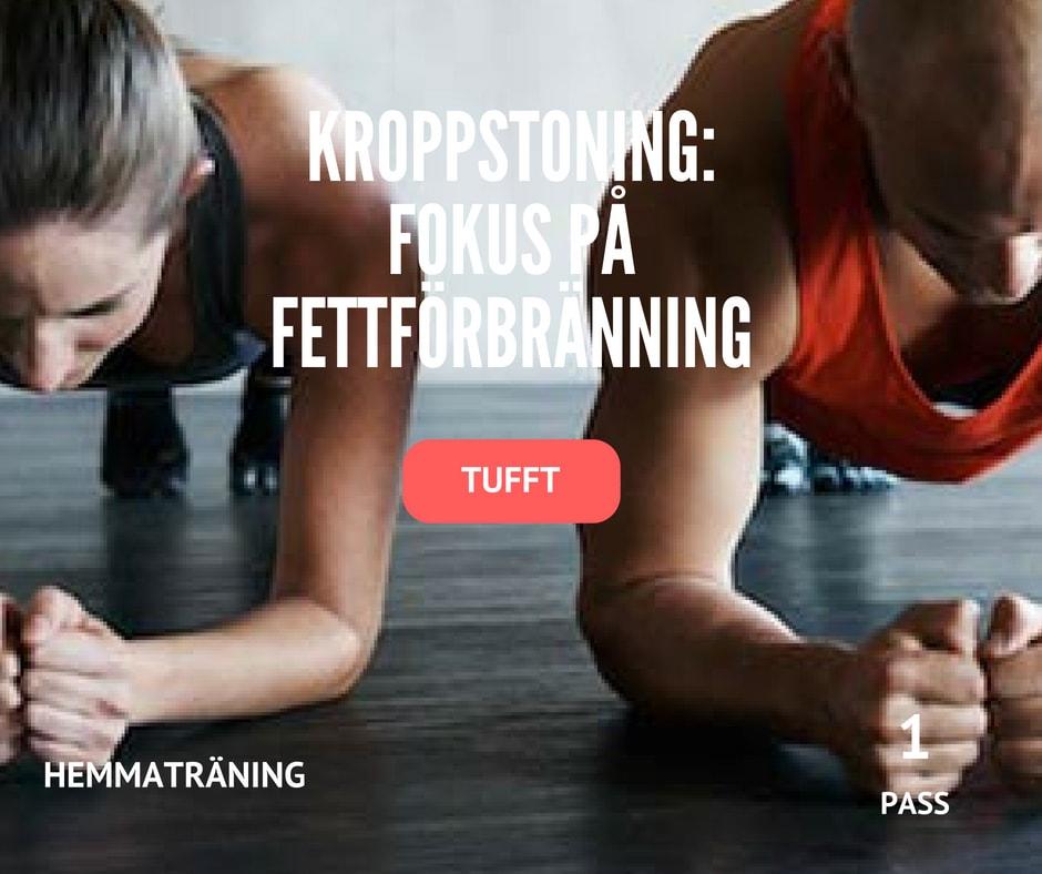 träningsprogram bränn fett