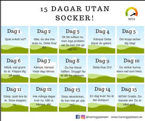 Utmaning – 15 dagar utan socker