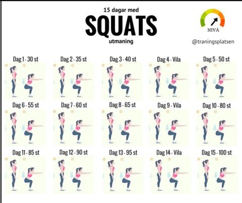 Utmaning squats