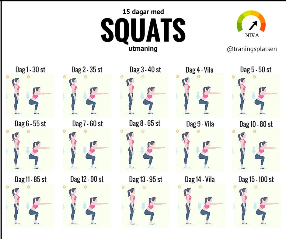 En perfekt utmaning som inkluderar squats.