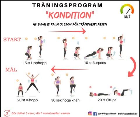Träningsprogram kondition