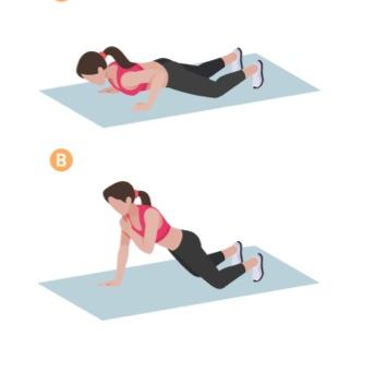 armhävning med axelklapp