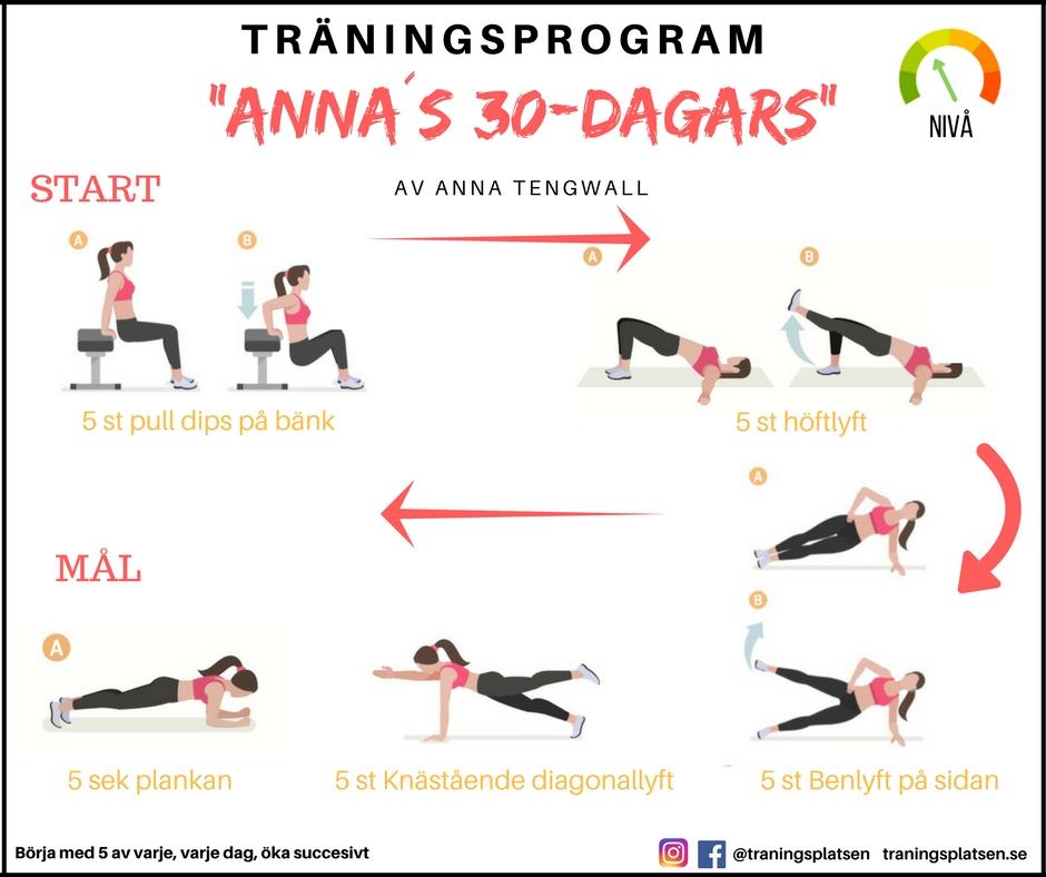 Annas 30 dagars träningsprogram