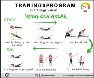 träningsprogram rygg och axlar