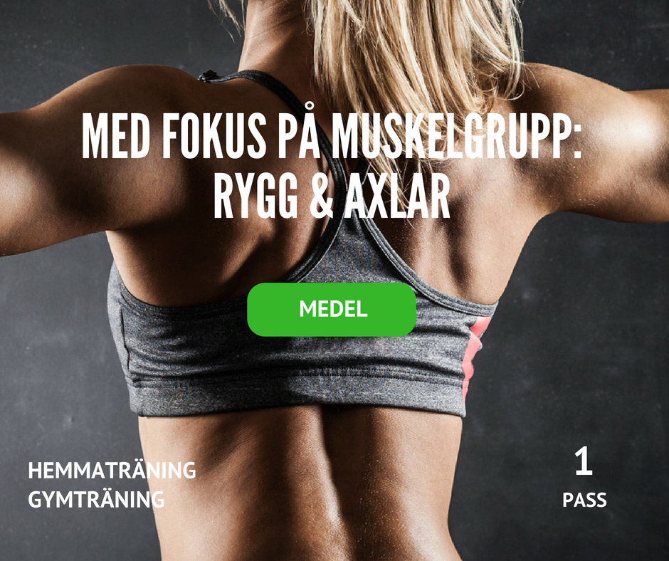 träningsprogram rygg och axlar, axelprogram, ryggprogram, träningsrutin axlar, träningsschema axlar