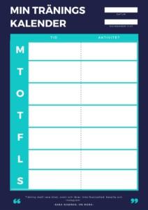 träningskalender vecka