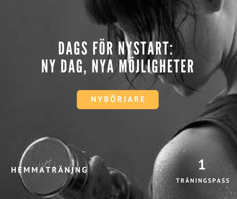Träningsprogram nybörjare, nybörjarprogram träning, träningspass nybörjare, nybörjarprogram
